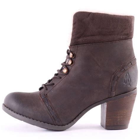 hush puppies goldie moorland womens ankle boots in brown
