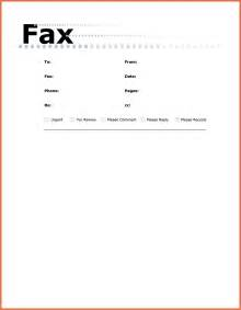 fax cover sheet microsoft word bio exle
