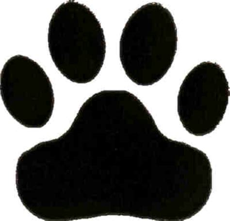 Large Paw Print Clip by Picture Of A Panther Paw Print Clipart Image 1189