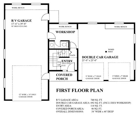 Dimensions Of A Three Car Garage by Garage Plan 76023 At Familyhomeplans Com