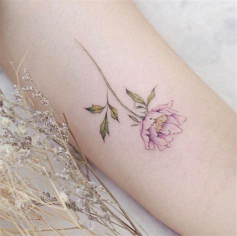 peony wrist tattoo s peony artist anzo choi
