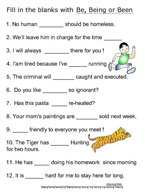 Why Should Verbs Be Used In Writing A Resume by Helping Verb Worksheets For Be Been Being