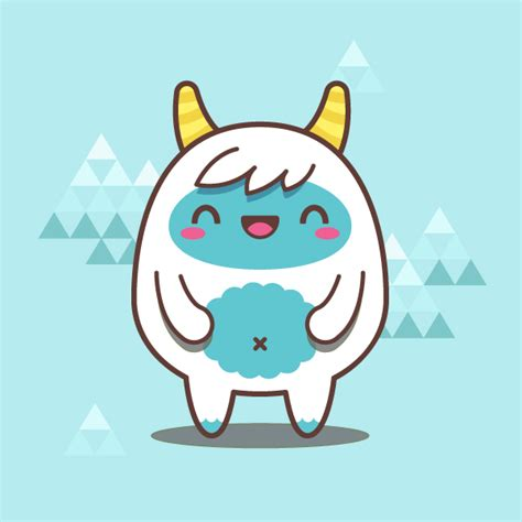 tutorial illustrator simple creating a simple kawaii yeti with basic shapes in adobe