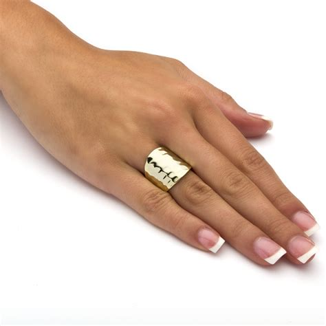 palmbeach jewelry 14k gold plated hammered style cigar