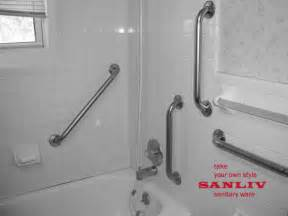 Bathroom Shower Rails How To Install Handicap Bathroom Rails Or Grab Bars
