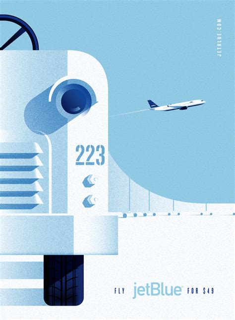 vintage style ad posters for jetblue