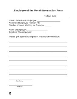 employee   month nomination form  word eforms  fillable forms