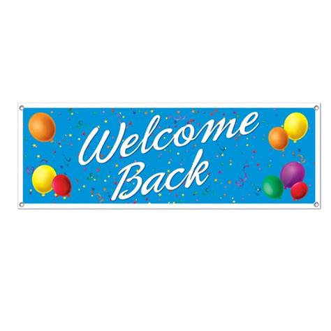 Beads Decoration Home by Welcome Back Sign Banner Partycheap