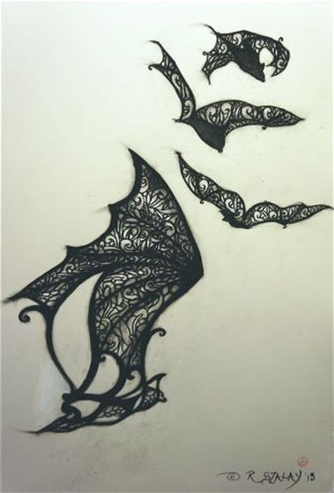 bat wing tattoo design design be cool and awesome on
