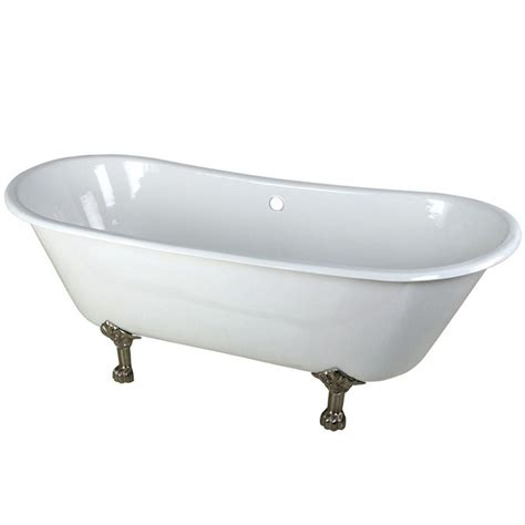 4 foot cast iron bathtub aqua eden 4 4 ft cast iron polished chrome claw foot