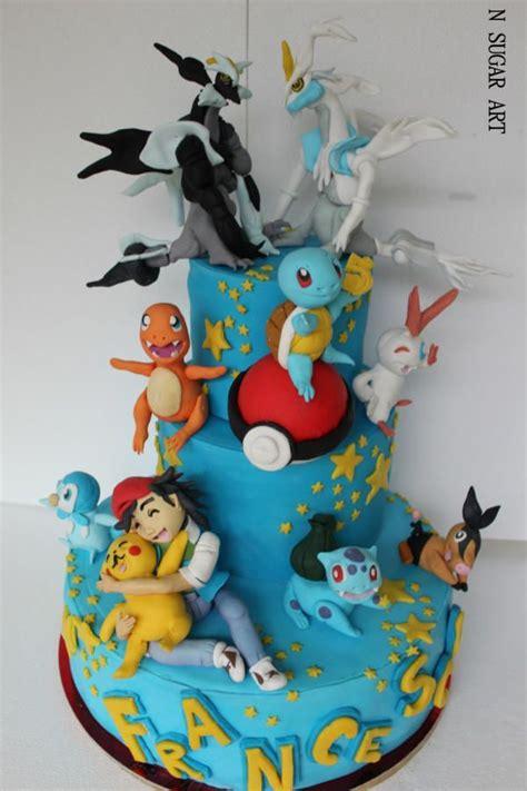 pokemon cake   sugar art pokemon  party favors  supplies   pokemon birthday