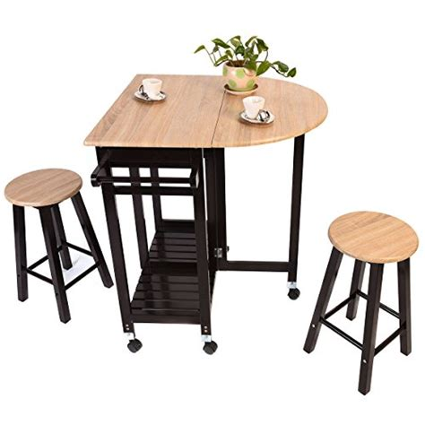 kitchen island table with stools kitchen island rolling cart set dinning drop leaf table with 2 stools wood buy in uae
