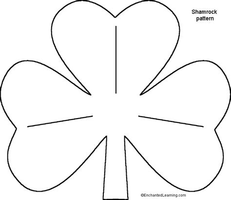 printable shamrock template st s day shamrock templates for crafts
