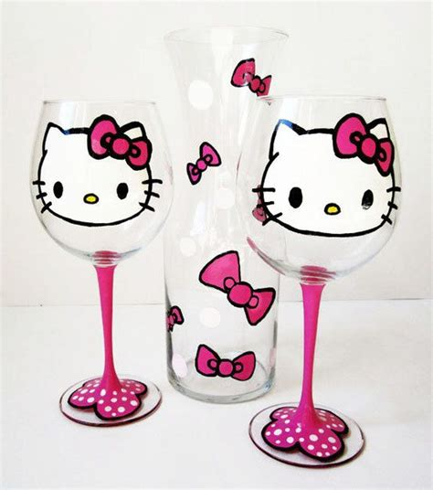 Gelas Plastik Hello wine glass set wine glass and hello on