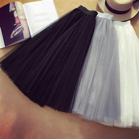 Pleated Tulle Skirt 2017 new ballet tulle pleated skirt wedding prom
