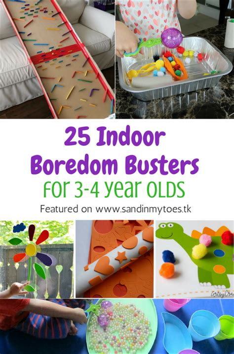 indoor boredom busters    year olds sand   toes