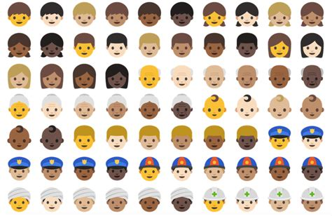 black emojis for android for the time android supports more emoji than ios