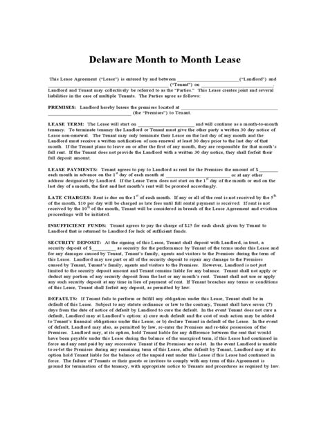 desk rental agreement template delaware month to month lease agreement free