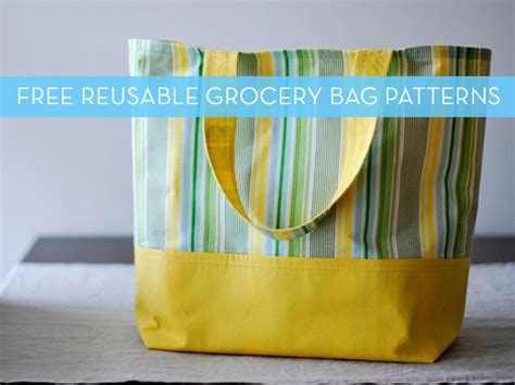 patterns  reusable grocery bags curbly