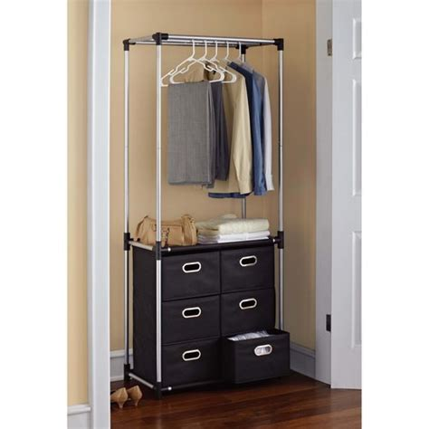 storage closet organizers will help to forget about mess mainstays 6 drawer closet organizer black walmart com