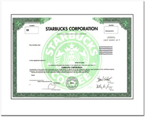 real share  starbucks corporation stock   minutes stock gifts  giveasharecom