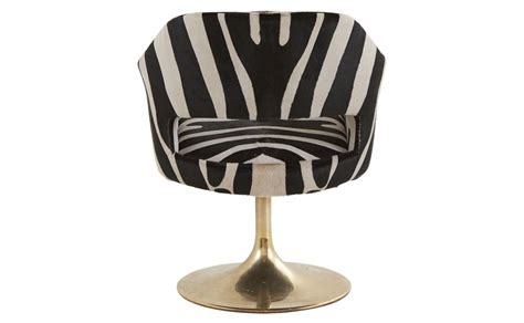 Vintage Zebra Swivel Chair Jayson Home Zebra Swivel Chair