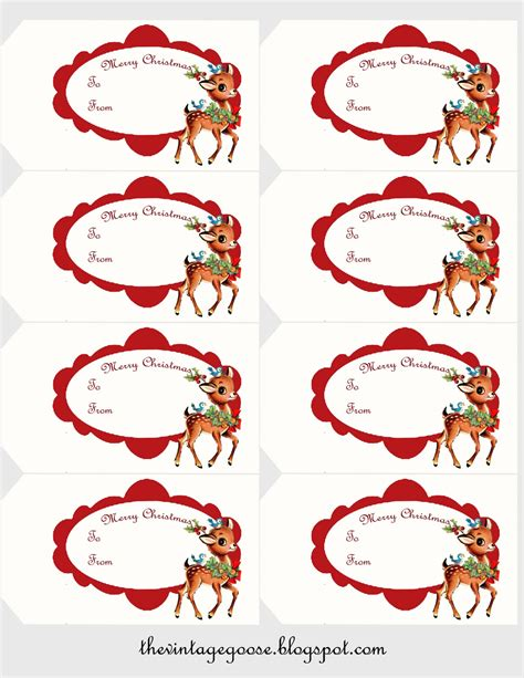 printable deer gift tags the vintage goose christmas gift tags with cute vintage