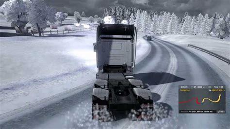 euro truck simulator 2 snow mods simulation game modes euro truck simulator 2 winter mod drifting 7