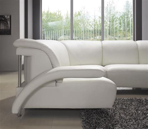 modern white sectional sofa modern white leather sectional sofa