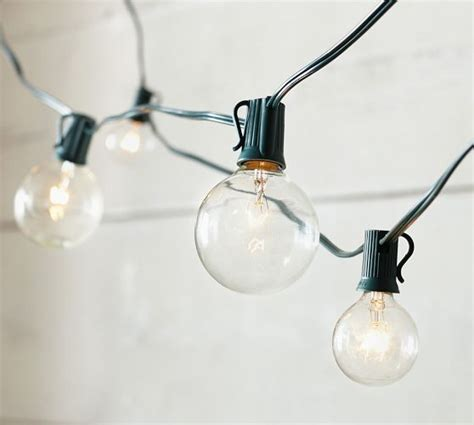 Pottery Barn Globe Lights oversized globe string lights