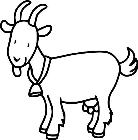 Coloriage chèvre à imprimer