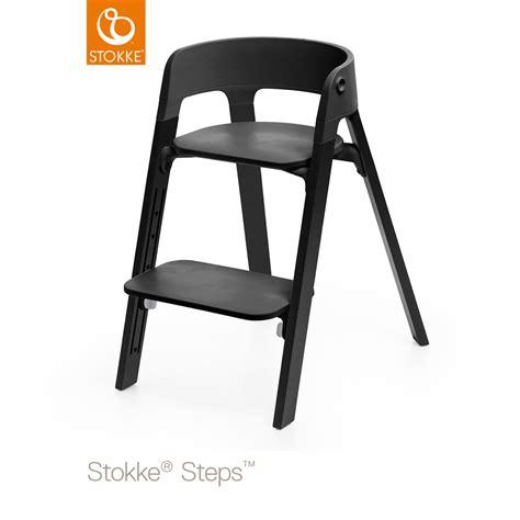 assise chaise haute assise pour la chaise haute steps noir de stokke sur allob 233 b 233