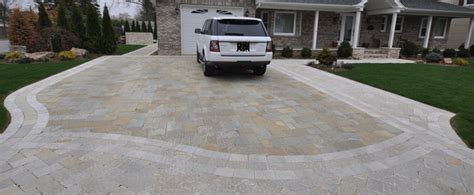natural stone driveway driveway pavers paver stones design installation