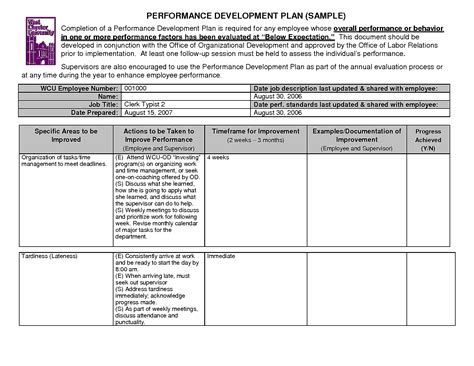 Employee Development Plan Templates by Employee Development Plan Sle Template Sle Mughals