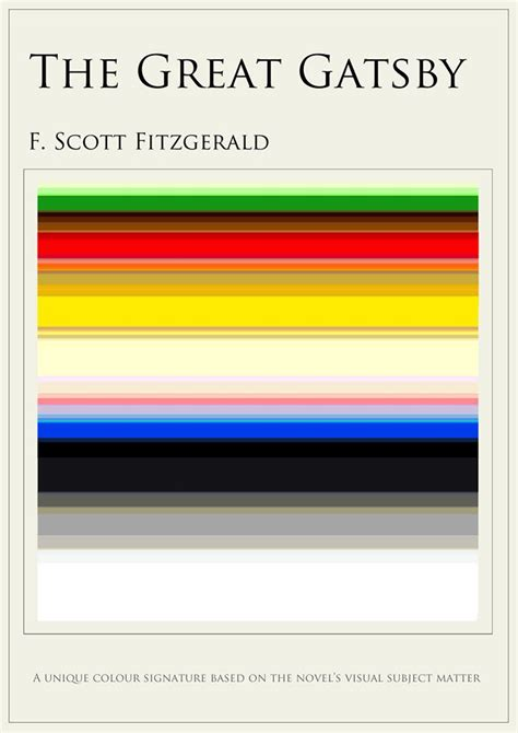 symbols in the great gatsby book what your favorite book looks like in colors arts