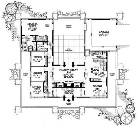 u shaped house floor plans u shaped house plans with pool bing images plan de maison pinterest wood homes