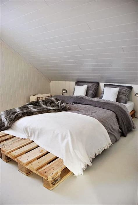 bed frame from pallets 40 diy ideas easy to install pallet platform beds