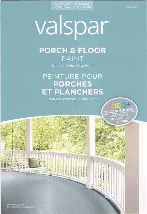 design production porch paint color card brochure on behance