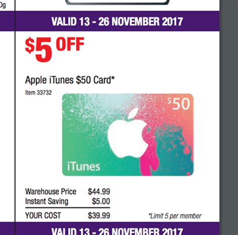 Facebook Gift Cards On Sale - expired 20 off 50 itunes gift cards at costco from 13 november to 26 november