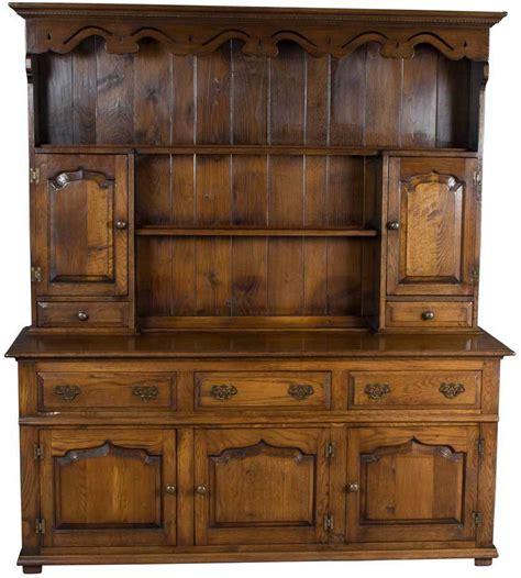 Antique Style Solid Oak Welsh Dresser Plate Rack Kitchen Hutch Dining Room   eBay