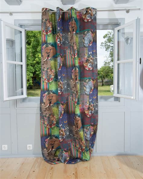 digitaldruck vorhang vorhang gardine 214 senschal digitaldruck afrika 245cm oder