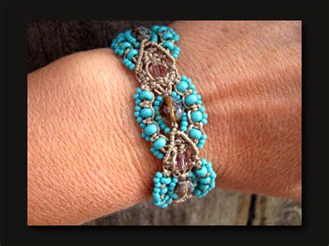 Micro Macrame Patterns - the beading yogini tonopah dreams micro macrame bracelet