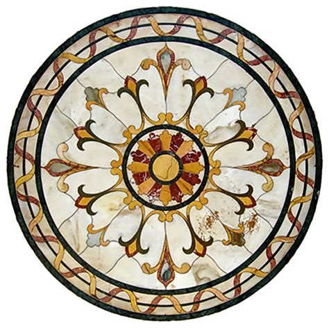 Tile Floor Designs For Bathrooms gallucci bianca carrara marble medallion traditional