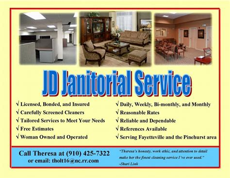 Home Decor Blogs To Follow by New Brochures 001 From Jd Janitorial Services Inc In