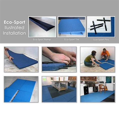 1 Inch Rubber Floor Tiles by Quot Eco Sport 1 Inch Quot Interlocking Rubber Flooring Tiles