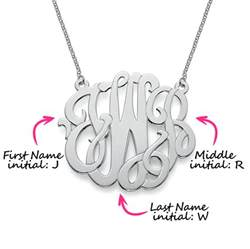 Monogram Name Necklace Monogramming Initials Guide How To Monogram Mynamenecklace
