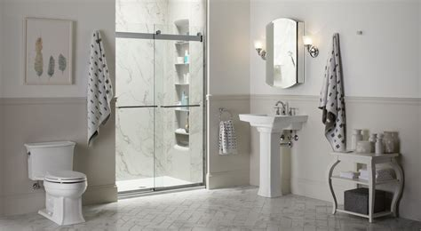 Bathroom Showers Choreograph Shower Wall And Accessory Collection Bathroom Kohler