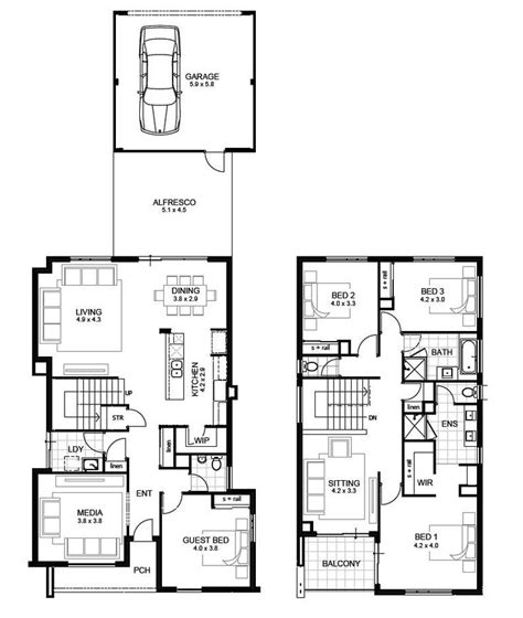 3 bedroom double story house plans best 25 double storey house plans ideas on pinterest double storey house 2 storey