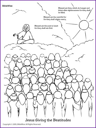 free coloring pages of the beatitudes