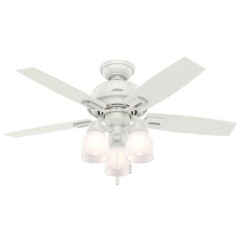 hunter fan light cover hunter donegan 44 in led 3 light indoor fresh white